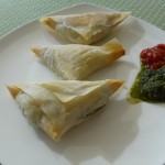 Fenugreek and potato phyllo pastry
