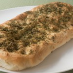 Middle Eastern flatbread with dried fenugreek leaves