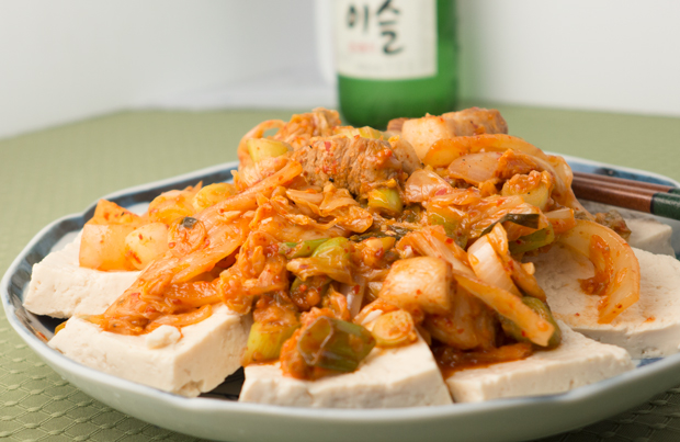 Tofu With Kimchi And Pork Belly Recipe — Dishmaps