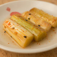 Japanese-style grilled leek pickle